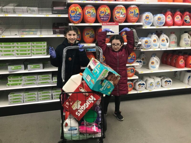 Elana and Sabrina couldn't visit their friend at Ronald McDonald House (RMH) because of COVID. Instead, they shopped and delivered essentials to RMH.